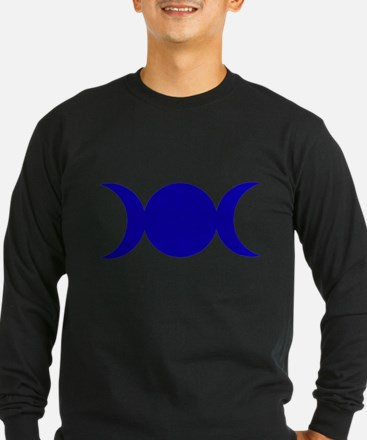 Dark Blue Triple Goddess Long Sleeve T-Shirt