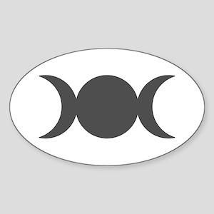 Gray Triple Goddess Sticker