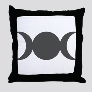 Gray Triple Goddess Throw Pillow