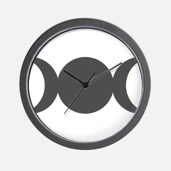 Gray Triple Goddess Wall Clock