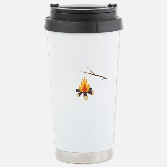 Campfire with marshmall Stainless Steel Travel Mug