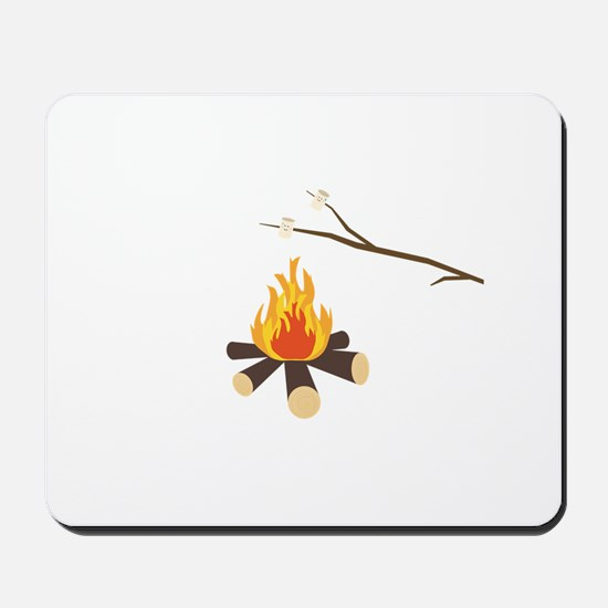 Campfire with marshmallows Mousepad