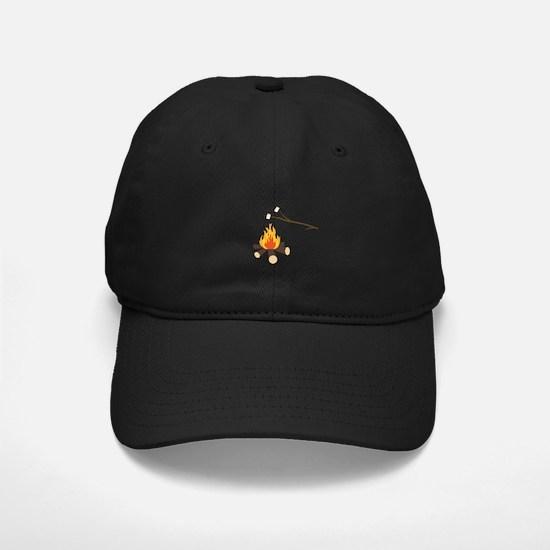 Campfire with marshmallows Baseball Hat