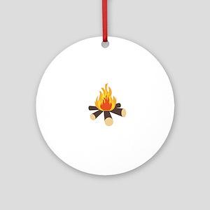 Campfire Round Ornament