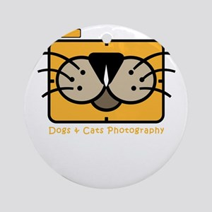 dogs and cats photography Round Ornament