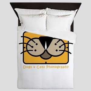 dogs and cats photography Queen Duvet
