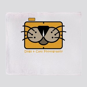 dogs and cats photography Throw Blanket
