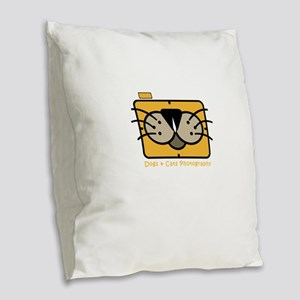 dogs and cats photography Burlap Throw Pillow