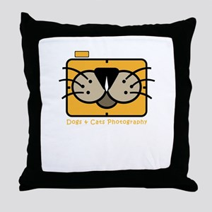 dogs and cats photography Throw Pillow