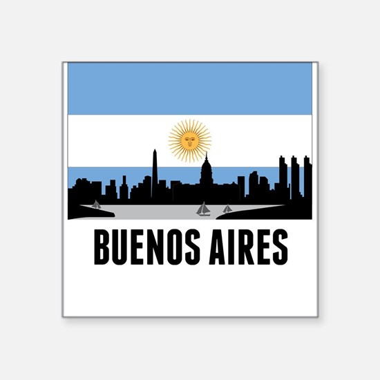 Buenos Aires Argentinian Flag Sticker