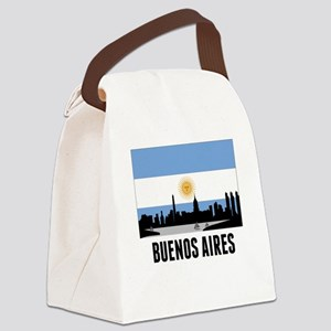 Buenos Aires Argentinian Flag Canvas Lunch Bag