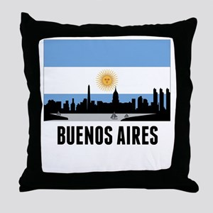 Buenos Aires Argentinian Flag Throw Pillow