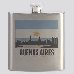 Buenos Aires Argentinian Flag Flask