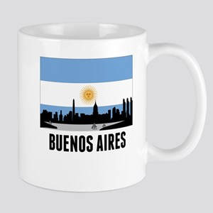 Buenos Aires Argentinian Flag Mugs