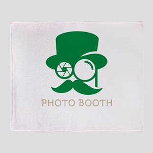 photo booth Throw Blanket