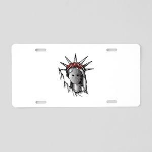 Lady Purge Aluminum License Plate