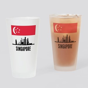 Singapore Singaporean Flag Drinking Glass