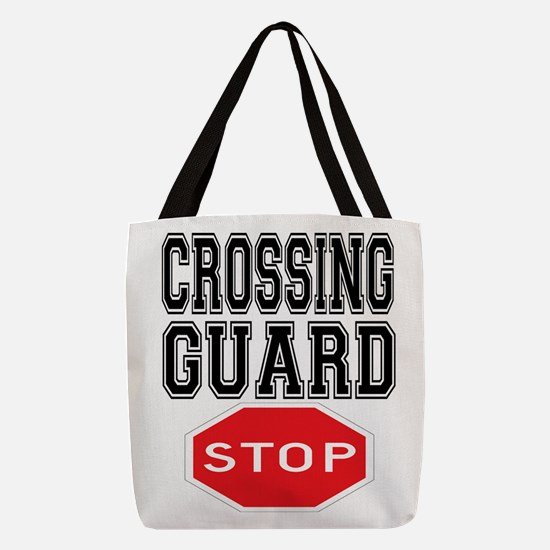 Crossing Guard Polyester Tote Bag