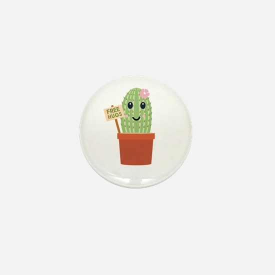 Cactus free hugs Mini Button