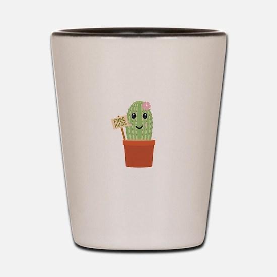 Cactus free hugs Shot Glass