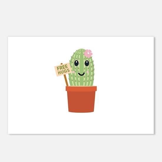 Cactus free hugs Postcards (Package of 8)