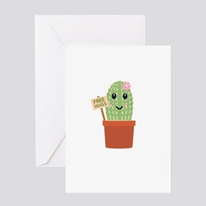 Cactus Free Hugs Greeting Cards