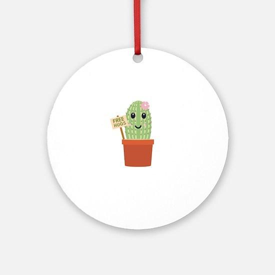 Cactus free hugs Round Ornament