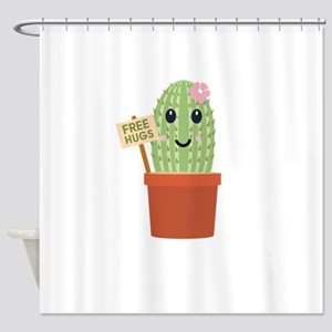 Cactus free hugs Shower Curtain
