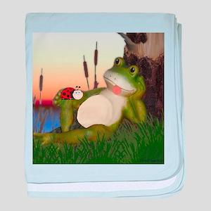 The Frog and the Ladybug baby blanket
