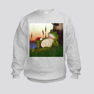 The Frog and the Ladybug Kids Sweatshirt