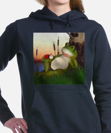 The Frog and the Ladybug Women's Hooded Sweatshirt