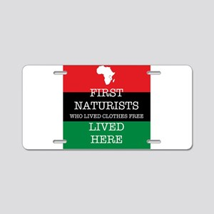 First naturists Aluminum License Plate