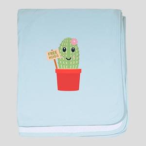 Cactus free hugs baby blanket