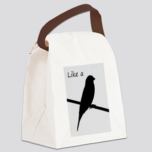 Like a Bird on a Wire Canvas Lunch Bag