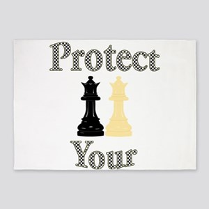 Protect Your Queen 5'x7'Area Rug