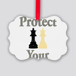 Protect Your Queen Picture Ornament