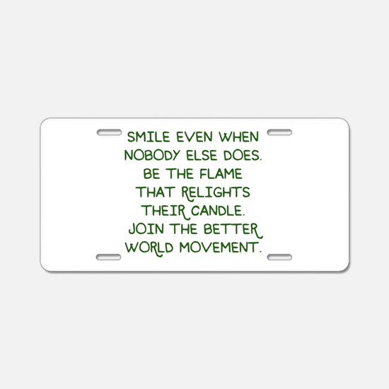 Relight their Candle Aluminum License Plate