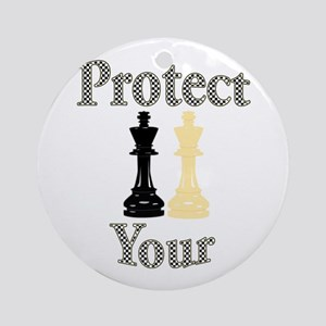 Protect Your King Round Ornament