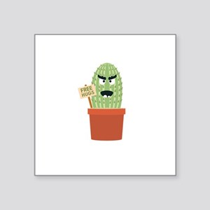 Angry cactus with free hugs Sticker