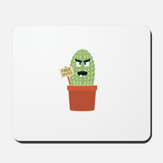 Angry cactus with free hugs Mousepad