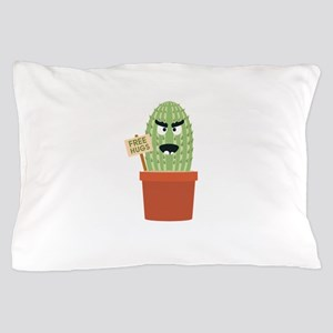 Angry cactus with free hugs Pillow Case