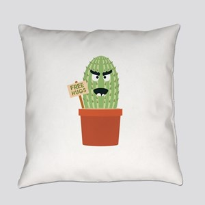 Angry cactus with free hugs Everyday Pillow