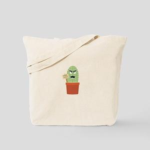 Angry cactus with free hugs Tote Bag