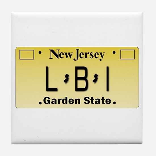 LBI NJ Tag Giftware Tile Coaster