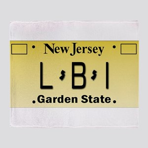LBI NJ Tag Giftware Throw Blanket