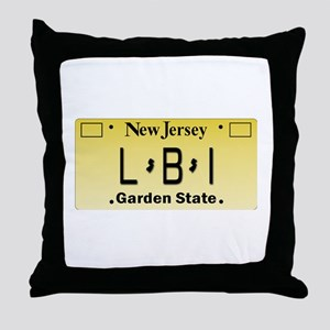 LBI NJ Tag Giftware Throw Pillow