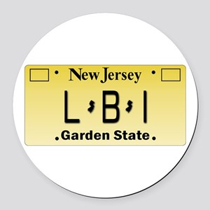LBI NJ Tag Giftware Round Car Magnet