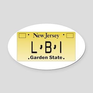 LBI NJ Tag Giftware Oval Car Magnet
