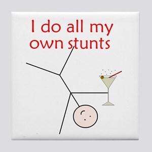 STUNTS WITH DRINK Tile Coaster