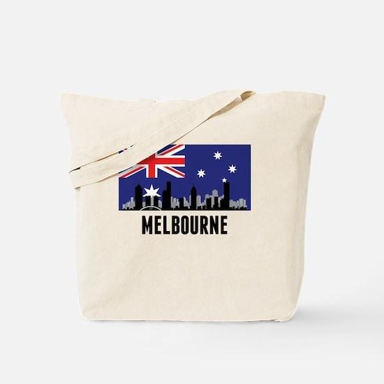 Melbourne Australian Flag Tote Bag